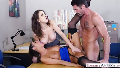 Ashley Adams bonking in the office with her brown eyes