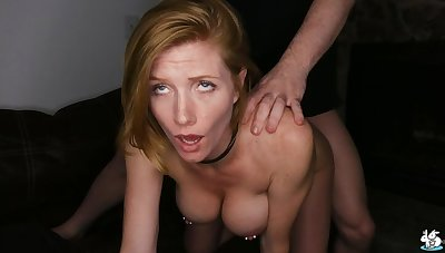 Sexy Redhead With Pierced Nipples Enjoys Rough Coition