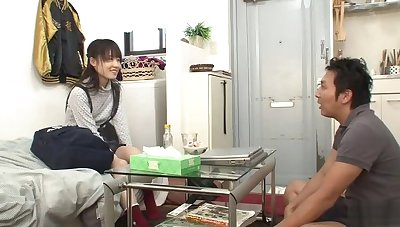 Beautiful flat chested oriental youthful whore got orgasm at the end of one's tether fingering