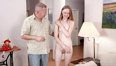 Starved babe asks uncle for help and gets a fuck