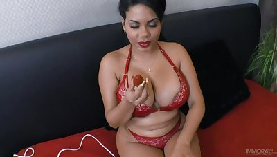 South American Renown Kesha Ortega Makes a Lucky Guy Cum Spitting image in POV
