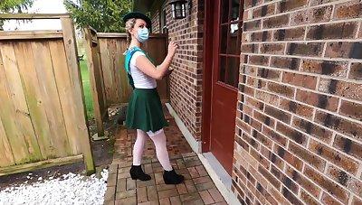 Nubile Dame Scout gets Internal Cumshot Surprise from Old Defy