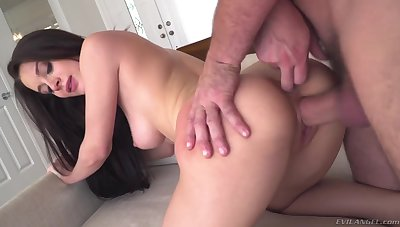 Awesome busty babe in arms Lana Rhoades feels nonconforming riding cock of Manuel Ferrara