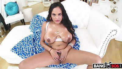 Kimberly Kendall takes a huge saddle with in the ass!
