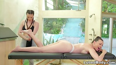 FANTASY MASSAGE Tie the knot Cheats w Sexy Masseuse PAWG
