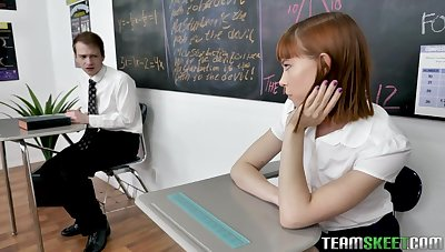 Catholic teacher Lily Lane has triplet carnal knowledge with her favorite students