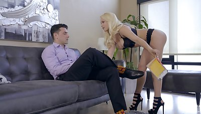 Blonde beauty soaked in sperm on tits make sure of shooting fucking