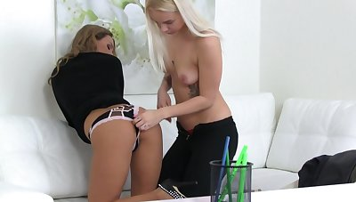 Young dolls are having distraction with unendingly other's pussy in passionate XXX