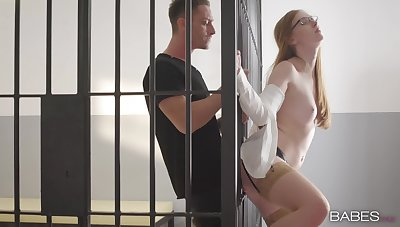 Redhead factory hard to make this inmate cum on her complexion