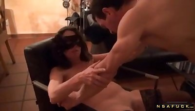 Masked pro gets well-rounded just about stiff dong in the library