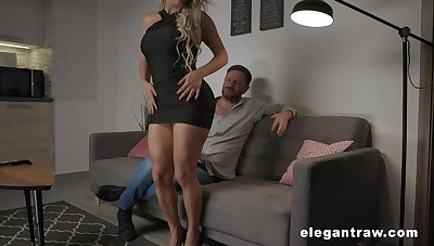 Zealous and pretty Brazilian busty blonde whore Mia Linz loves hard anal