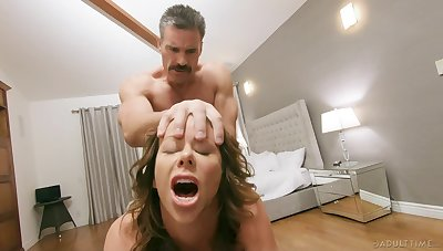 Going to bed on the floor regarding cock stimulated of age mommy Alexis Fawx