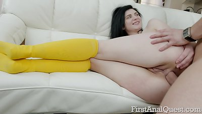Booty be worthwhile for too pale brunette Agata Sin deserves spanking and brutal anal
