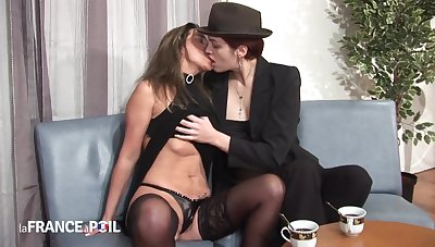 Exciting Tongue-lashing Joins Lesbians