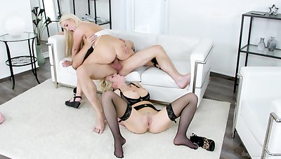 Downcast ass chicks decide they ought to share this mother fucker