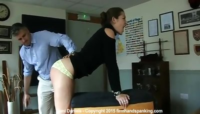 Dani Daniels in Two Well Paddled Ass!