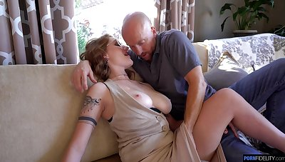 Sexy big breasted wife Aria Kai loves when her pussy gets near ripped apart