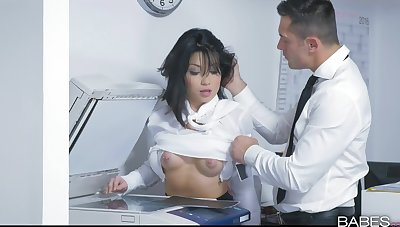 Addictive hard sex encouragement under way in the air the new Asian secretary