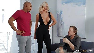 Black wood gives saleable blonde bombshell Nicolette Shea what she needs