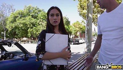 Stunning swain Ginebra Bellucci gets her pussy ruptured round outdoors