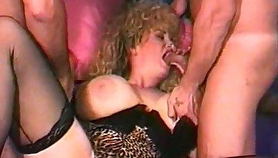 Giant Knocker Classic Pornstar Threesome Sex Session