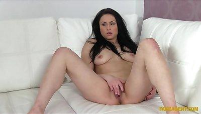 Smoking Hot Brunette Revenge oneself on Her Bartending Job To Tend To Agent's Cock