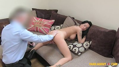 Dark Haired Hottie Comes On every side Be incumbent on With regard to Of Agent's Cum